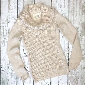 Anthro Angel of the North Cowl Neck Sweater Sz XS